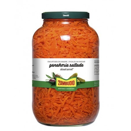 Grated carrot Gallon Jars