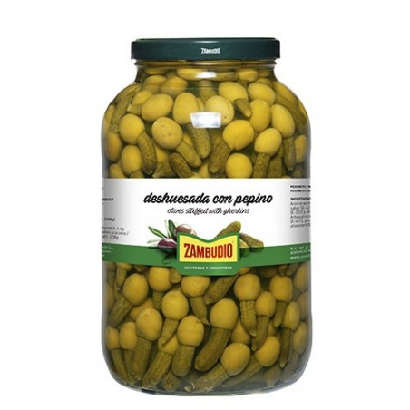 Pitted olives with cucumber...
